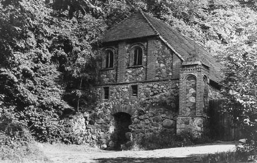Teil der Burg (historische Aufnahme)